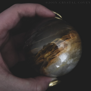 Hematoid Quartz Crystal Ball