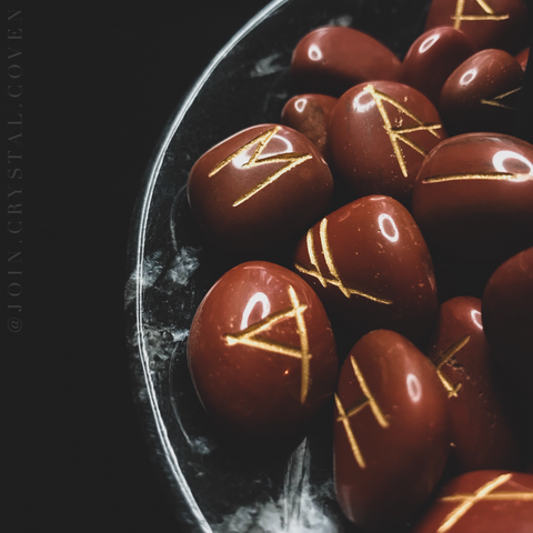 The Witch's Runes in Red Jasper