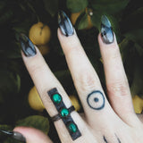 Malachite Don't Cross Me Ring - Size 8