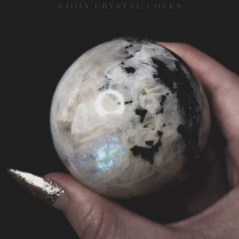 Rainbow Moonstone Crystal Ball