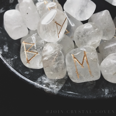 The Witch's Runes in Clear Quartz