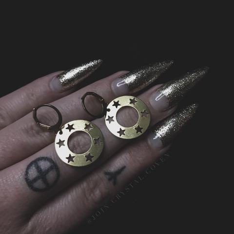 The Ring of Pentacles Earrings