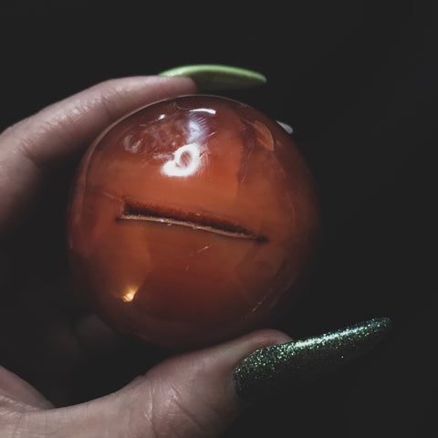 Coin Slot Carnelian Crystal Ball