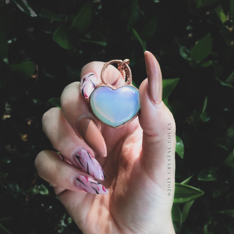The Witch's Wandering Heart Talisman - Opalite
