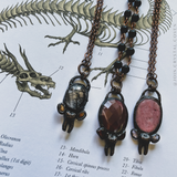 Black Rutile and Garnet Talisman of Rebirth