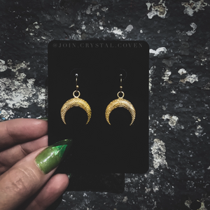The Rising Crescent Moon Earrings