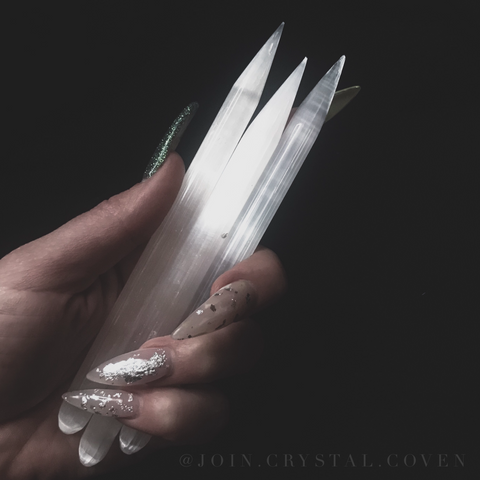 Power of Three - Selenite Pencil Wands