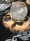Small Snake and Pentacle Crystal Ball Stand