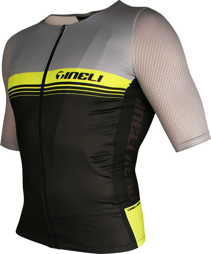 Tri Aero One Race Jersey Yellow