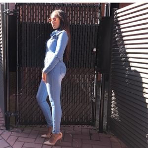 Curves Denim Jumpsuit