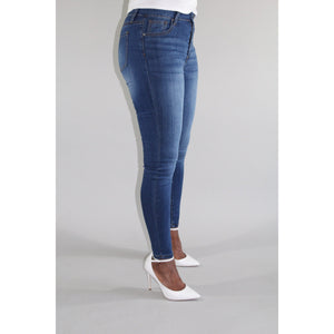 Medium Wash High Waste Jeans
