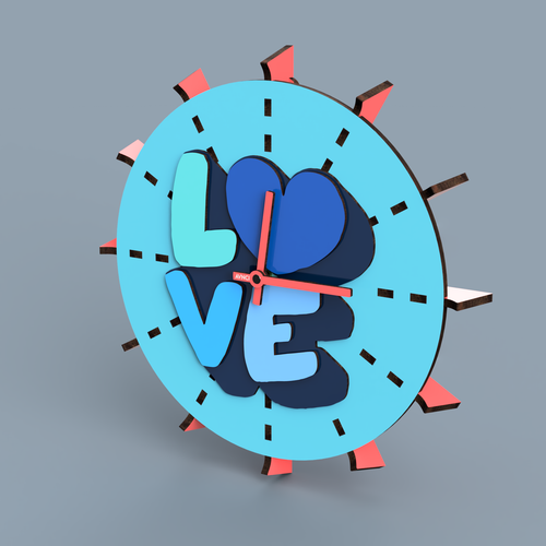 """TIME FOR LOVE"" Wall Clock"
