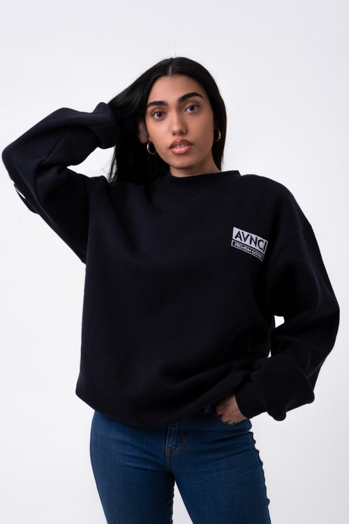 AVNCI V-CREW Embroidered Sweater