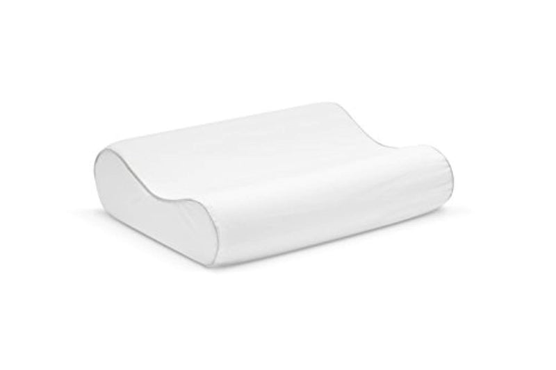 Sleep Innovations produced by Innocor Comfort Memory Foam Contour Pillow with Cotton Cover, Made in The USA with a 5-Year Warranty-Standard Size, White