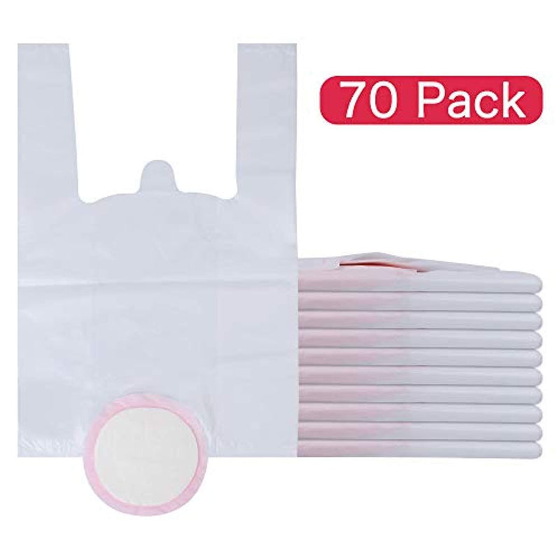 70 Value Pack Travel Potty Liners, Disposable Potty Chair Liners with Super-Absorbent Pads - Universal Potty Chair Fit (fits Most Potty Chairs)