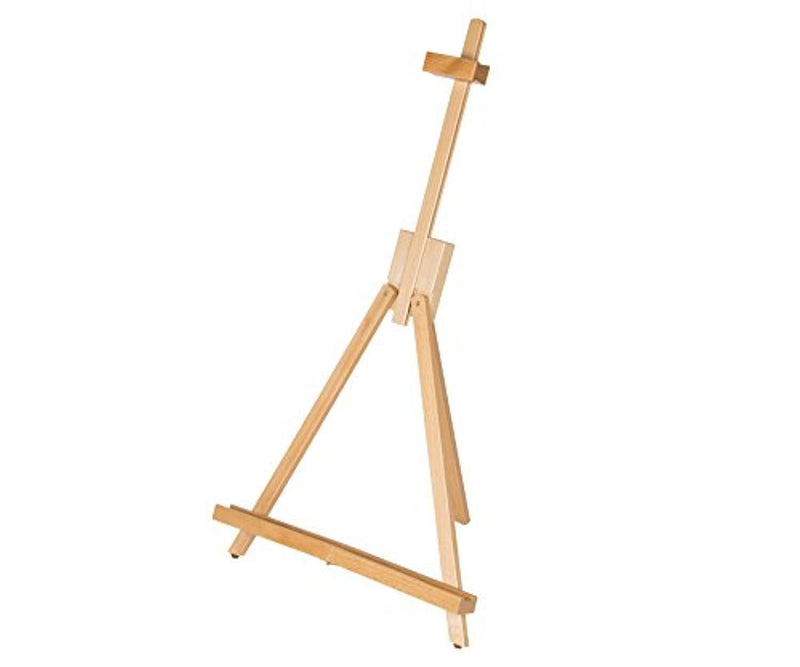 Adjustable 18 to 31-1/2 inch CONDA Medium Portable Beech Wood A-Frame Easel