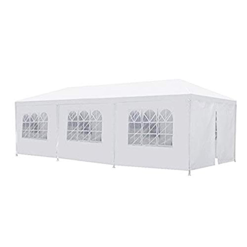 JOO LIFE 10' x 30' Canopy Outdoor Party Wedding Tent Heavy Duty Gazebo Pavilion 8 Removable sidewalls,White Canopy Tent BBQ Shelter