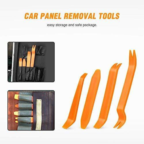 GOOACC Nylon Bumper Fastener Rivet Clips Car Door Clip Panel Audio Video Dashboard Dismantle Kits Installer Pry Tool (13PCS Trim Removal Tool Set)