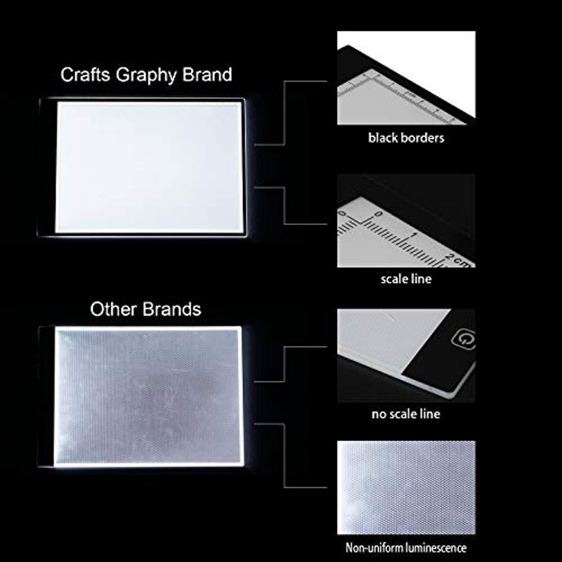 Crafts Graphy A4 Ultra-Thin Light Box Tracer LED Diamond Painting Light Pad USB Power Carble for Drawing