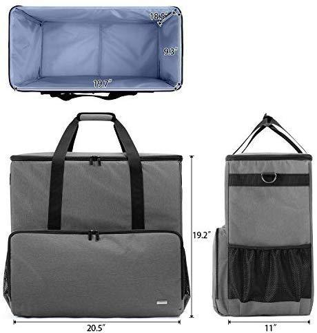 Curmio Desktop Computer Travel Bag, Carrying Case for Computer Tower PC Chassis, Keyboard, Cable and Mouse, Bag Only, Black