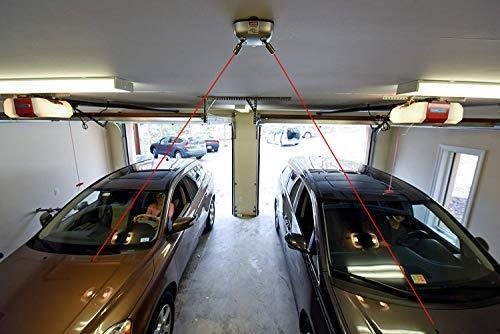 MAXSA Innovations Park Right Garage Laser Park, Dual Lasers in All White
