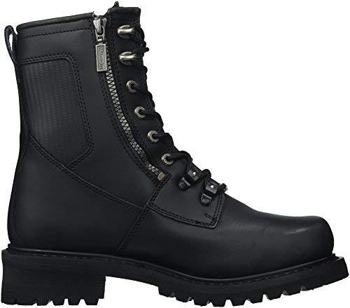 Milwaukee Motorcycle Clothing Company Trooper Leather Men's Motorcycle Boots (Black, Size 10D)