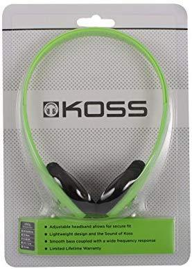Koss KPH7 Lightweight Portable Headphone, Black