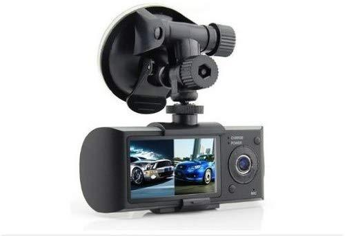 Towallmark Dual Front & Rear Camera DVR Car Vehicle Dash Dashboard GPS Data Recorder 1.3M