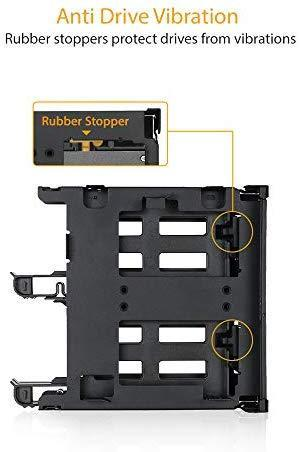 "ICY DOCK 5.25"" Ext. Bay to 3.5"" HDD/Device Bay + Ultra Slim ODD Bay Mounting Kit Bracket - Flex-FIT Duo MB343SPO"