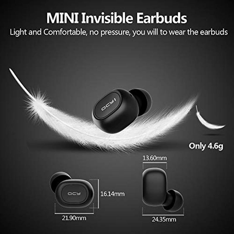Homscam Wireless Earbuds, Bluetooth 5.0 Eearbuds True Wireless Earbuds Earphones with Charging Case, Stereo Sound, 16H Playtime, Built-in Mic, Noise Cancel, Auto Pairing for iPhone Android