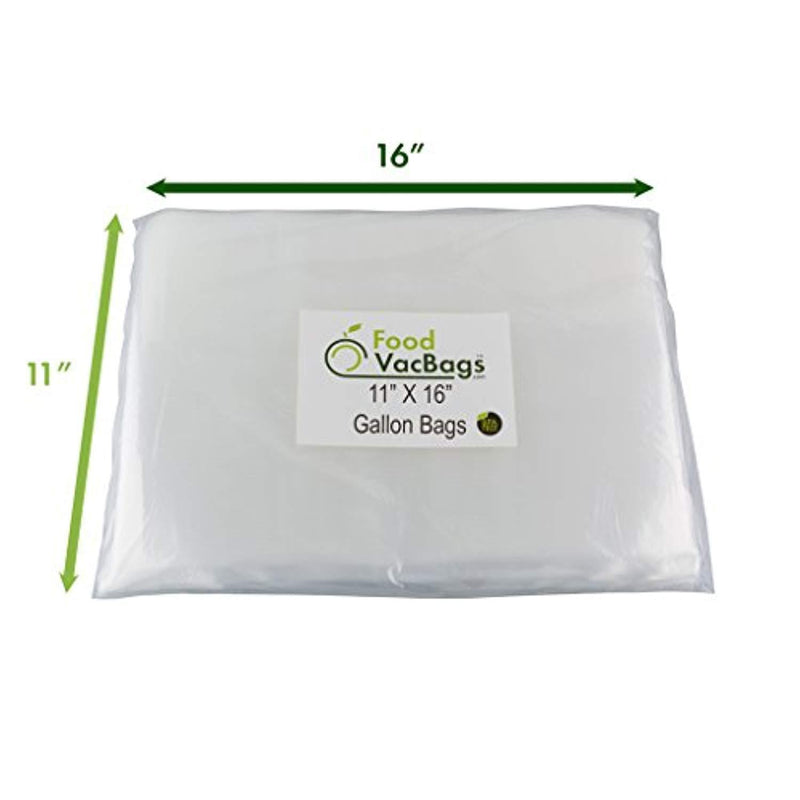 150 Combo FoodVacBags Vacuum Seal Bags - 3 sizes! 50 Pint, 50 Quart and 50 Gallon, 4 MIL, Commercial Grade, Sous Vide, No BPA, Boil, Microwave & Freezer Safe