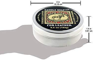 Bickmore Saddle Soap Plus - Leather Cleaner & Conditioner with Lanolin - Restorer, Moisturizer, and Protector