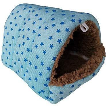 WOWOWMEOW Hamsters Polka Dot Warm Fleece Cave Bed Small Animals Hanging Cage Hideout