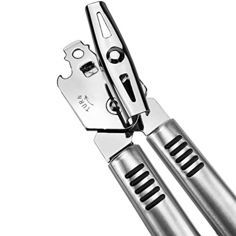 Pexio Professional Stainless Steel Manual Can Opener, 18/10 Food-Safe Stainless Steel, Comfortable to grip, Dishwasher Safe, Ergonomically designed handle. ...