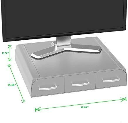 Mind Reader PC, Laptop, IMAC Monitor Stand and Desk Organizer, Black
