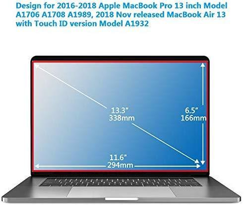 "Magnetic Privacy Laptop Screen Filter for MacBook Pro 13"" and 2018 MacBook Air 13, Anti Glare & Anti Blue Light Privacy Screen Filter with Webcam Cover (pro13)"