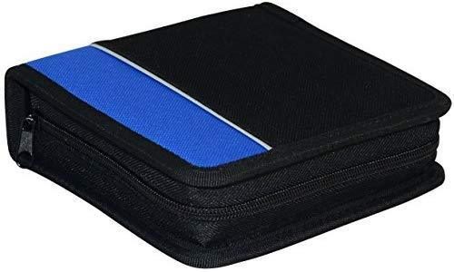 XtremPro CD DVD VCD Blue-Ray Nylon Zipper Wallet Case 24 Capacity- Black (11091)