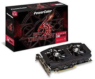 PowerColor AMD Radeon RED Dragon RX 580 8GB GDDR5 1 x DL DVI-D / 1 x HDMI / 3 x DisplayPort Graphics Card (AXRX 580 8GBD5-3DHDV2/OC )