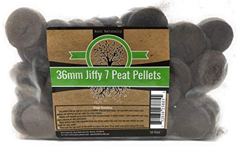 Root Naturally Jiffy-7 36mm Peat Pellets - 50 Count by Root Naturally