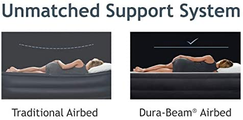 Intex Comfort Plush Elevated Dura-Beam Airbed with Internal Electric Pump Series
