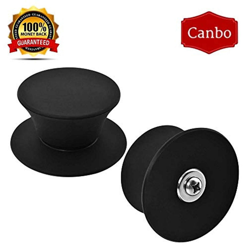 Pot Lid Knob Silicone Knob Pot Lid Handle Cover Plastic Kitchen Cookware Pot Knob Pan Lid Handle Universal Kitchen Replacement 4 Pcs