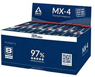 ARCTIC MX-4 2019 Edition - Thermal Compound Paste - Carbon Based High Performance - Heatsink Paste - Thermal Compound CPU for All Coolers, Thermal Interface Material - High Durability - 4 Grams