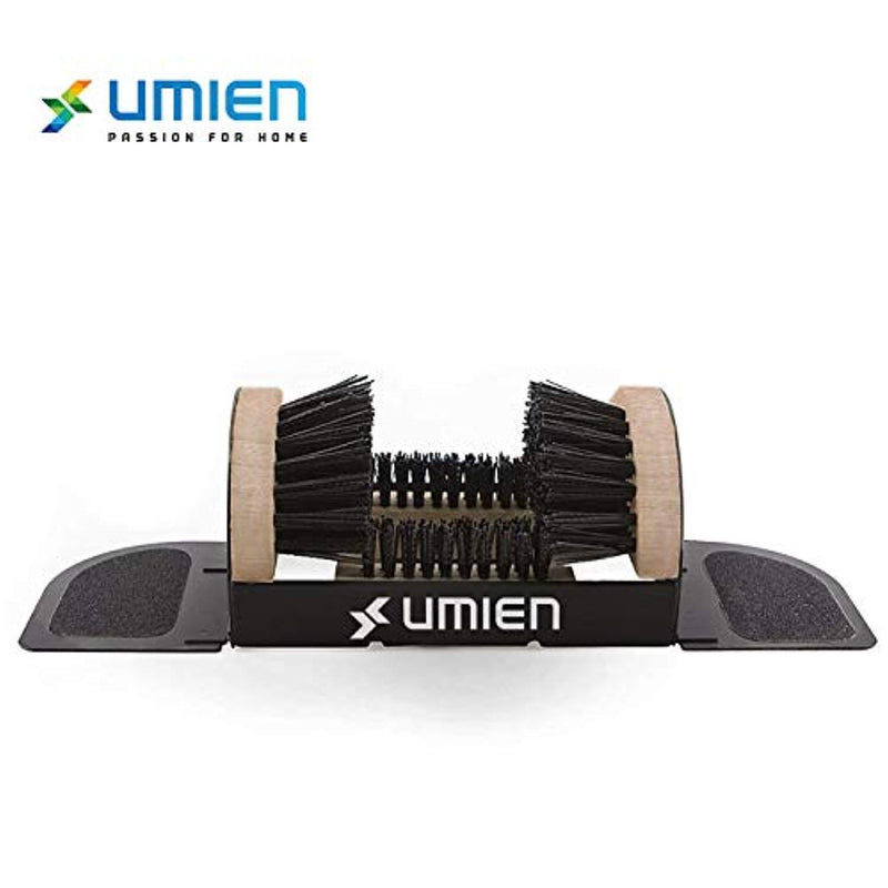Umien Boot Scraper Brush Outdoor - Deluxe Folding Boot Cleaner Scrubber, No Mounting Required Indoor and outdoor use - Includes Extra Shoe Brush - Easy to Use For Children & Adults