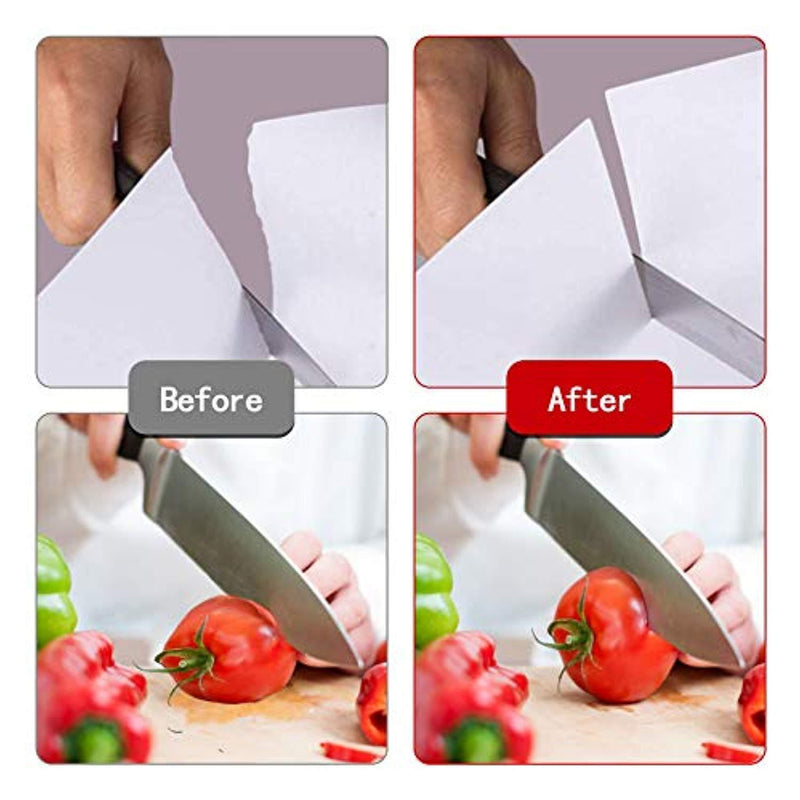Professional Kitchen Knife Sharpener JOSO 3 Stage Stainless Steel Chef Knife Sharpener with Diamond Tungsten Ceramic for Dull Steel, Paring, Chefs and Pocket Knives, Sharpens Scissors Quickly