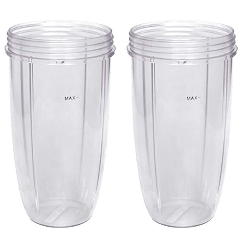 Replacement Cup for Nutribullet Replacement Parts 32oz for Nutri Bullet 600W and 900W, Pack of 2 by Easeurlife