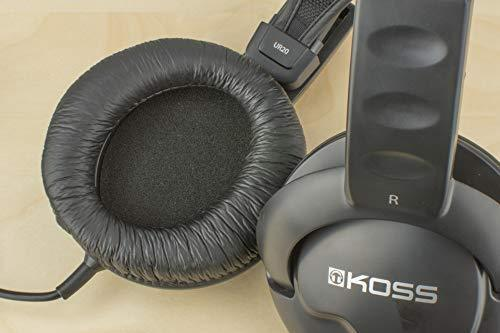 Koss UR20 Over-Ear Headphones, Flexible Sling Headband, Black