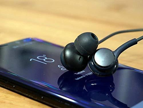 Aux Headphones/Earphones/Earbuds, (2 Pack) 3.5mm Wired in-Ear Headphones with Mic and Remote Control Compatible with Galaxy S9 S8 S7 S6 S5 S4 Edge + Note 4 5 6 7 8 9 and More Android Devices(Black)