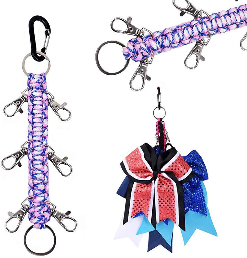 DEEKA Paracord Handmade Cheer Bows Holder for Cheerleading Teen Girls High School College Sports