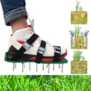 R&H Lawn Aerator Shoes with Upgrated Zinc Alloy Buckles Spikes Aerator Sandals for Aerating Your Grass Lawn or Yard 3 Straps Universal Size for a Greener and Healthier Garden (Green)
