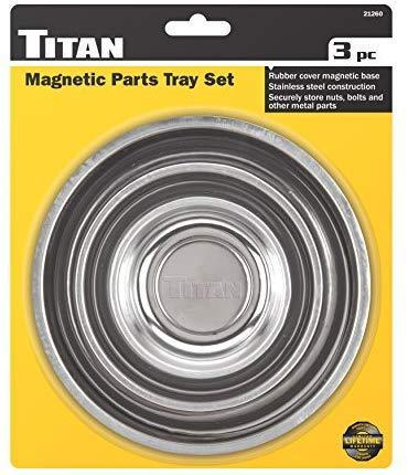 Titan Tools 21260 3 Piece Magnetic Parts Tray Set